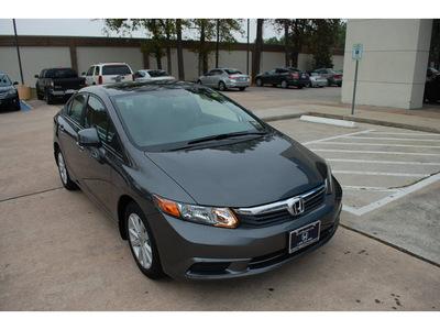 honda civic 2012 gray sedan ex gasoline 4 cylinders front wheel drive automatic 77339