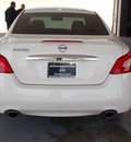 nissan maxima 2011 white sedan 3 5 sv gasoline 6 cylinders front wheel drive shiftable automatic 77477