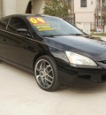 honda accord 2004 black coupe ex v 6 gasoline 6 cylinders front wheel drive manual 77008