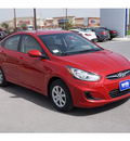 hyundai accent 2013 red sedan gls gasoline 4 cylinders front wheel drive automatic 78523