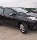 ford fiesta 2013 black hatchback se gasoline 4 cylinders front wheel drive automatic 76011