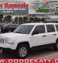 jeep patriot 2013 white suv sport gasoline 4 cylinders front wheel drive standard 77450