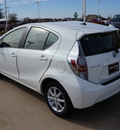 toyota prius c 2012 white hatchback three hybrid 4 cylinders front wheel drive automatic 76049