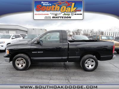 dodge ram 1500 2005 black pickup truck gasoline 8 cylinders rear wheel drive automatic 60443