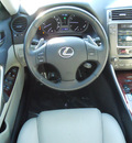 lexus is 250 2007 gray sedan gasoline 6 cylinders rear wheel drive shiftable automatic 75606