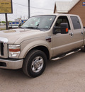 ford f 250 super duty 2008 gold xlt diesel 8 cylinders rear wheel drive automatic 78064