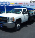 chevrolet silverado 3500hd cc 2012 white work truck gasoline 8 cylinders 4 wheel drive 6 speed automatic 76234