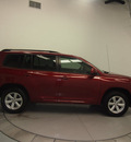 toyota highlander 2008 dk  red suv base gasoline 6 cylinders front wheel drive automatic 76137