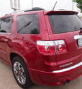 gmc acadia 2012 red suv denali gasoline 6 cylinders front wheel drive autostick 77065