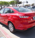 ford focus 2012 red sedan se flex fuel 4 cylinders front wheel drive automatic 75067