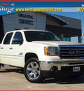 gmc sierra 1500 2013 white sle flex fuel v8 2 wheel drive automatic 75087