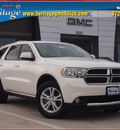 dodge durango 2011 white suv express gasoline 6 cylinders rear wheel drive automatic 75087