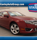 ford fusion 2010 dk  red sedan sport gasoline 6 cylinders front wheel drive automatic 75219