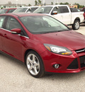 ford focus 2013 ruby red sedan titanium flex fuel 4 cylinders front wheel drive automatic 77375