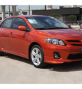 toyota corolla 2013 orange sedan s gasoline 4 cylinders front wheel drive automatic 78232