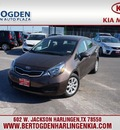 kia rio 2013 brown sedan ex 4 cylinders automatic 78550