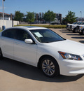 honda accord 2011 white sedan ex l gasoline 4 cylinders front wheel drive automatic 76108