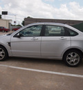 ford focus 2008 silver sedan ses gasoline 4 cylinders front wheel drive automatic 76011