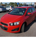 chevrolet sonic 2012 red sedan lt gasoline 4 cylinders front wheel drive automatic 78539