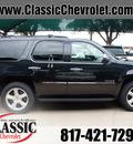chevrolet tahoe 2013 black suv ltz flex fuel v8 2 wheel drive automatic 76051