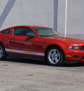 ford mustang 2010 dk  red coupe v6 gasoline 6 cylinders rear wheel drive automatic 79407