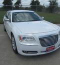 chrysler 300 2012 white sedan limited gasoline 6 cylinders rear wheel drive automatic 77587