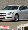 chevrolet malibu 2012 white sedan ls gasoline 4 cylinders front wheel drive automatic 62034
