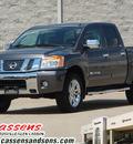 nissan titan 2011 gray sl gasoline 8 cylinders 4 wheel drive automatic 62034