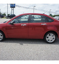 ford focus 2011 dk  red sedan sel gasoline 4 cylinders front wheel drive automatic with overdrive 75657