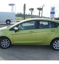 ford fiesta 2012 lt  green hatchback se gasoline 4 cylinders front wheel drive automatic 77539