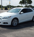 chevrolet malibu 2013 white sedan lt gasoline 4 cylinders front wheel drive automatic 78016
