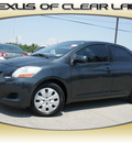 toyota yaris 2010 black sedan gasoline 4 cylinders front wheel drive automatic 77546