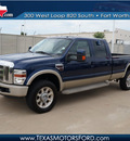 ford f 350 super duty 2008 dk  blue king ranch diesel 8 cylinders 4 wheel drive automatic 76108