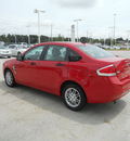 ford focus 2008 red sedan se gasoline 4 cylinders front wheel drive automatic 75503