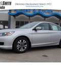 honda accord 2013 silver sedan lx gasoline 4 cylinders front wheel drive cont  variable trans  77025