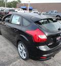 ford focus 2014 black hatchback st gasoline 4 cylinders front wheel drive 6 speed manual 60546