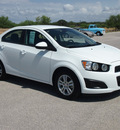chevrolet sonic 2012 white sedan ls gasoline 4 cylinders front wheel drive automatic 78009