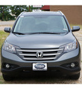 honda cr v 2013 dk  gray suv ex l 4 cylinders automatic 75606