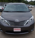 toyota sienna 2013 dk  gray van xle 8 passenger 6 cylinders 6 speed automatic 76053