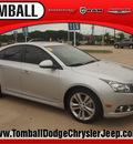 chevrolet cruze 2012 silver sedan ltz gasoline 4 cylinders front wheel drive automatic 77375