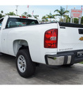 chevrolet silverado 1500 2012 white work truck gasoline 6 cylinders 2 wheel drive 4 speed automatic 33177