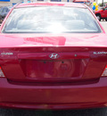 hyundai elantra 2005 red sedan gls 4 cylinders standard 78214