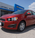 chevrolet sonic 2013 red sedan lt auto gasoline 4 cylinders front wheel drive automatic 76266