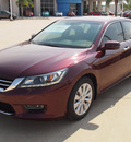 honda accord 2013 dk  red sedan ex l v6 gasoline 6 cylinders front wheel drive automatic 77065