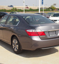 honda accord 2013 dk  gray sedan lx gasoline 4 cylinders front wheel drive automatic 77065