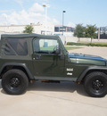 jeep wrangler 2005 green suv x gasoline 6 cylinders 4 wheel drive 6 speed manual 76108