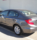 honda civic 2012 gray sedan ex l gasoline 4 cylinders front wheel drive automatic 79925