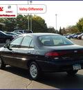 ford escort 1997 black sedan lx gasoline 4 cylinders front wheel drive automatic 55124