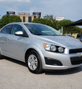 chevrolet sonic 2013 silver ice metallic sedan lt auto gasoline 4 cylinders front wheel drive shiftable automatic 75080