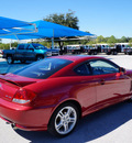 hyundai tiburon 2005 red hatchback gt gasoline 6 cylinders front wheel drive automatic 76206